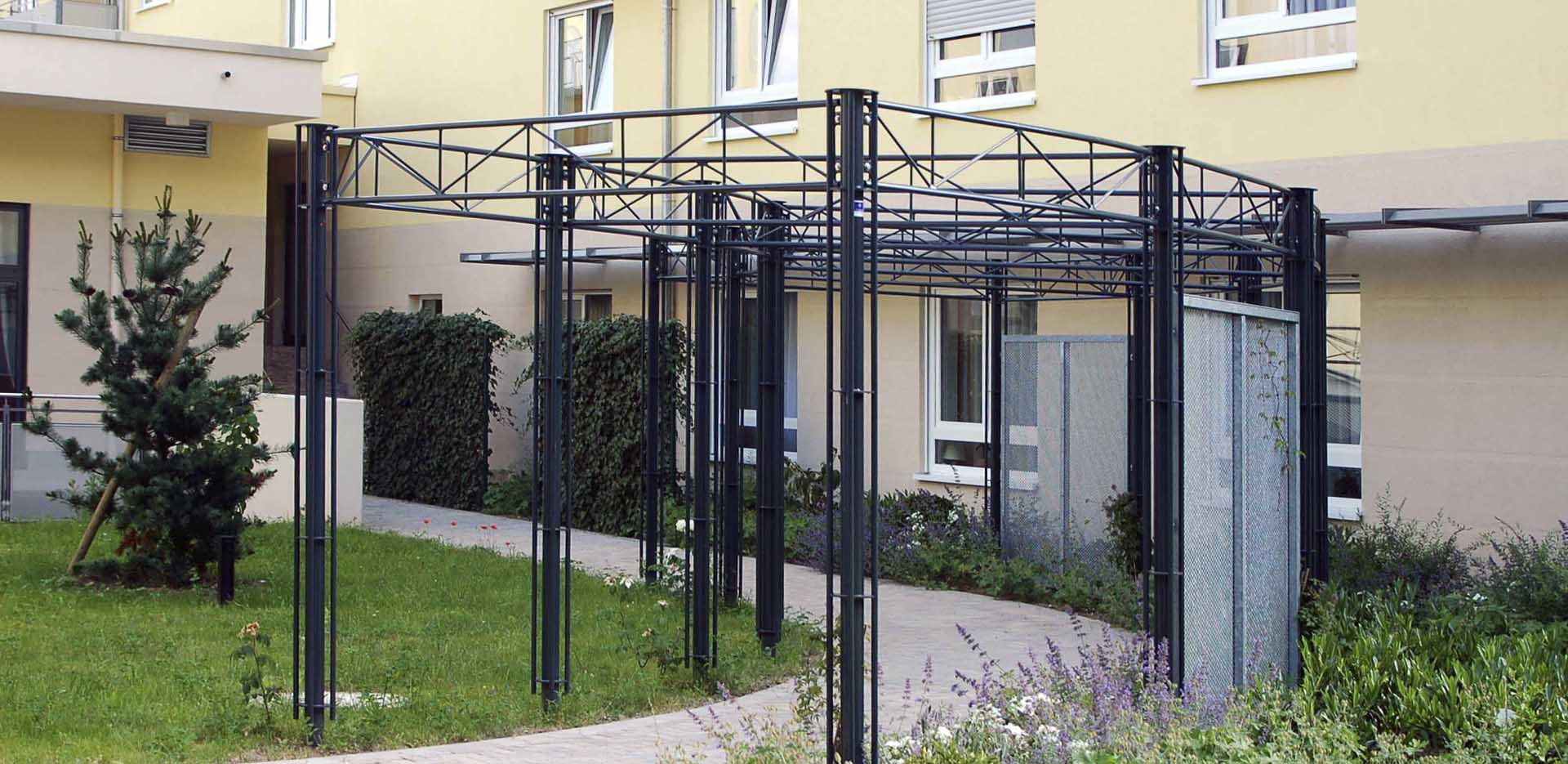 pergola m geldorf projekt w systeme aus stahl. Black Bedroom Furniture Sets. Home Design Ideas