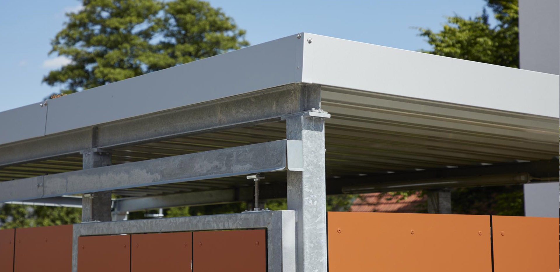 Referenzen projekt w systeme aus stahl for Carport detail