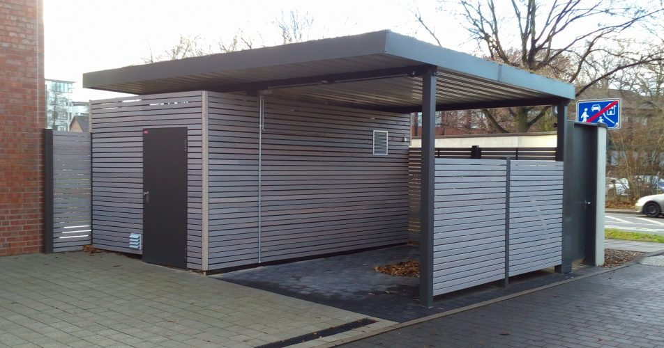 Carport-mit-Abstellraum-Gründach-light-952x500 Individuelle Carports